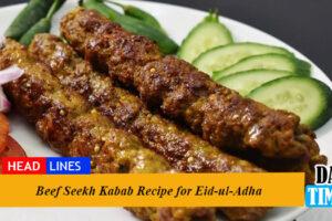 Beef Seekh Kabab Recipe for Eid-ul-Adha