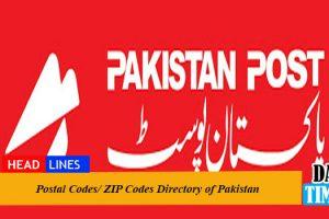 Postal Codes/ ZIP Codes Directory of Pakistan