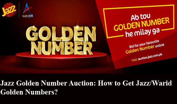 Jazz Golden Number Auction: How to Get Jazz/Warid Golden Numbers?