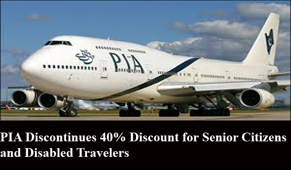 PIA Discontinues 40% Discount for Senior Citizens and Disabled Travelers