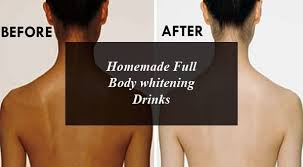 Homemade Full Body whitening Drinks