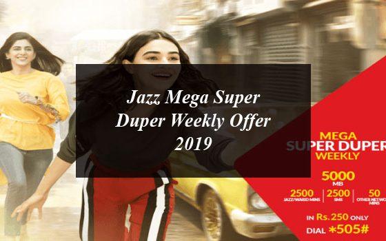 Jazz Mega Super Duper Weekly Offer 2019