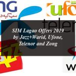 SIM Lagao Offers 2019 by Jazz+Warid, Ufone, Telenor and Zong