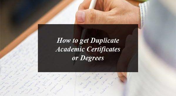 Duplicate Academic Certificates or Degrees in Pakistan