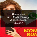 How to Avail Jazz+Warid WhatsApp & SMS Monthly Bundle?
