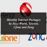Monthly Internet Packages by Jazz+Warid, Telenor, Ufone and Zong