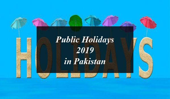 Public Holidays 2019 in Pakistan
