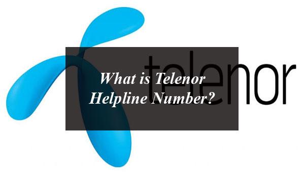 What is Telenor Helpline Number?