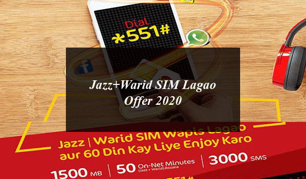 Jazz+Warid SIM Lagao Offer 2020