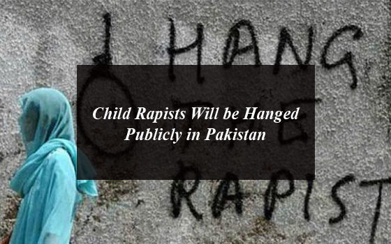 Child Rapists Will be Hanged Publicly in Pakistan