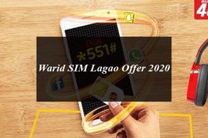 Warid SIM lagao offer code, warid band sim offer 2020