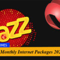 Jazz Monthly Internet Packages 2020
