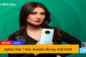 Infinix Note 7 Now Available Having 4GB/64GB