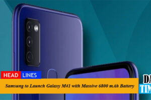 Samsung to Launch Galaxy M41 with Massive 6800 mAh Battery