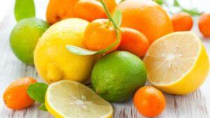Orange-colored and citrus fruits