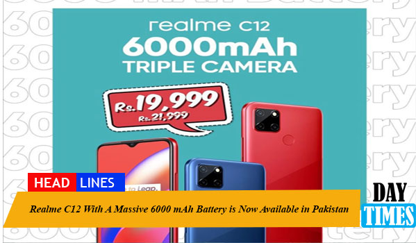 Realme C12 With A Massive 6000 mAh Battery is Now Available in Pakistan