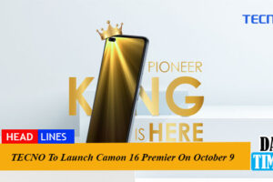 TECNO To Launch Camon 16 Premier On October 9