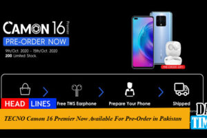TECNO Camon 16 Premier Now Available For Pre-Order in Pakistan