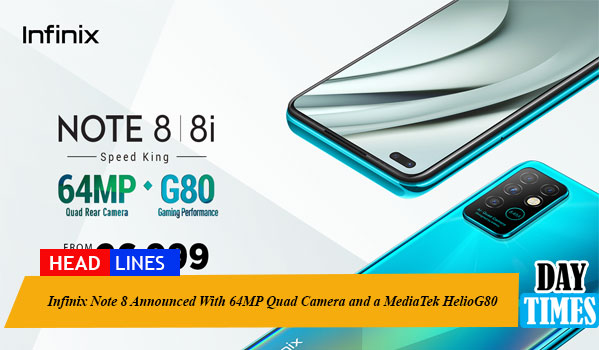 Infinix Note 8 Announced With 64MP Quad Camera and a MediaTek HelioG80