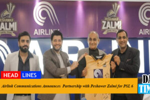 Airlink Communications Announces Partnership with Peshawer Zalmi for PSL 6