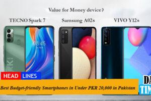 Best Budget-friendly Smartphones Under PKR 20,000 in Pakistan