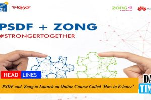 PSDF and Zong to Launch an Online Course Called 'How to E-lance'