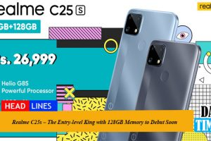 Realme C25s – The Entry-level King with 128GB Memory to Debut Soon