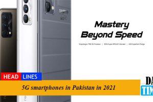 5G smartphones in Pakistan in 2021